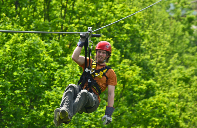 Zip lining in Charleston, courtesy Adventures on the Gorge