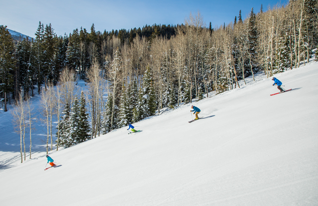 Groups can enjoy skiing lessons at the Deer Valley Resort, courtesy Deer Valley Resort