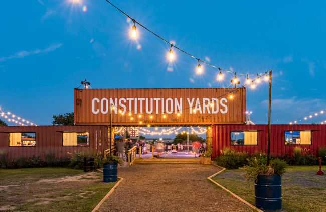 The Constitution Yards is a riverfront beer garden and restaurant in Wilmington, Delaware, courtesy Greater Wilmington CVB